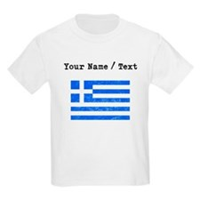 Custom Distressed Greece Flag T-Shirt