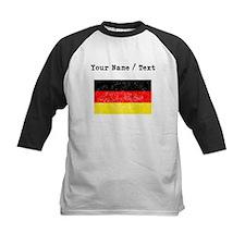 Custom Distressed Germany Flag Baseball Jersey