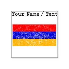 Custom Distressed Armenia Flag Sticker