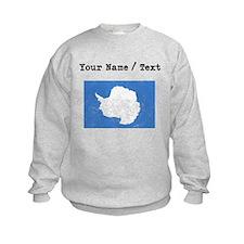 Custom Distressed Antarctica Flag Sweatshirt