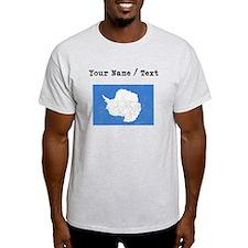 Custom Distressed Antarctica Flag T-Shirt