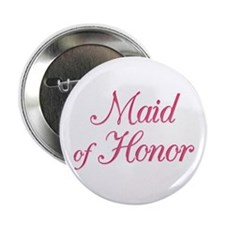 Maid of Honor (rose) Button