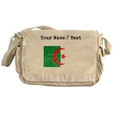 Custom Distressed Algeria Flag Messenger Bag