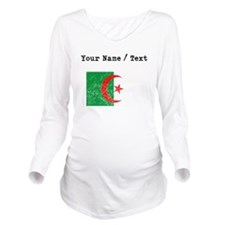 Custom Distressed Algeria Flag Long Sleeve Materni