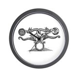 Entwined Hermetic Dragons Wall Clock