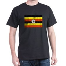 Distressed Uganda Flag T-Shirt