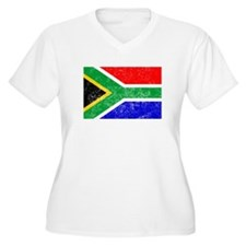 Distressed South Africa Flag Plus Size T-Shirt