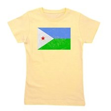 Distressed Djibouti Flag Girl's Tee