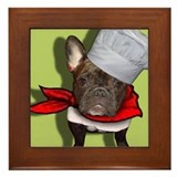 The Frenchie Chef Framed Tile