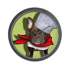 The Frenchie Chef Wall Clock