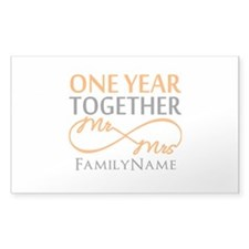 Gift For 1st Wedding Ann Decal