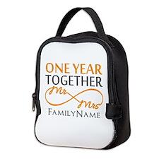 Gift For 1st Wedding Anniversar Neoprene Lunch Bag