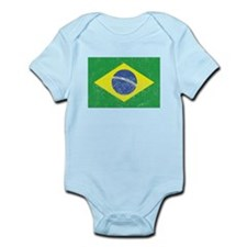 Distressed Brazil Flag Body Suit