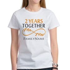 Gift For 2nd Wedding Anniversary Tee