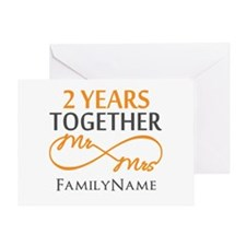 Gift For 2nd Wedding Anniversary Greeting Card