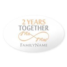 Gift For 2nd Wedding Annivers Decal