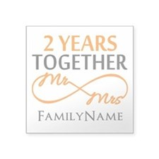 """Gift For 2nd Wedding Annive Square Sticker 3"""" x 3"""""""