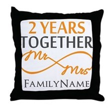 Gift For 2nd Wedding Anniversary Throw Pillow