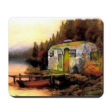 Airstream camping Mousepad