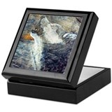 Coyote Keepsake Box - Slate Painting