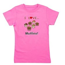 I Love Muffins Girl's Tee