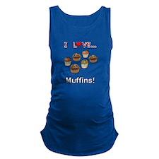 I Love Muffins Maternity Tank Top