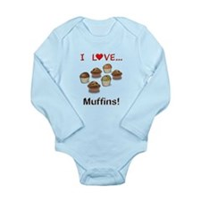 I Love Muffins Long Sleeve Infant Bodysuit