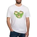 Snowy Mallard Ducklings Fitted T-Shirt