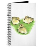 Snowy Mallard Ducklings Journal