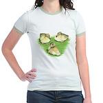 Snowy Mallard Ducklings Jr. Ringer T-Shirt