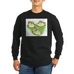 Snowy Mallard Ducklings Long Sleeve Dark T-Shirt
