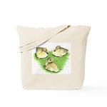Snowy Mallard Ducklings Tote Bag