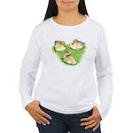 Snowy Mallard Ducklings Women's Long Sleeve T-Shir
