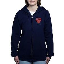 Michigan Heart Women's Zip Hoodie