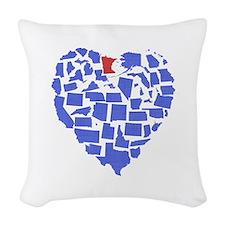 Minnesota Heart Woven Throw Pillow