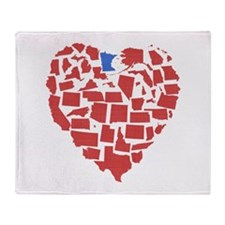 Minnesota Heart Throw Blanket