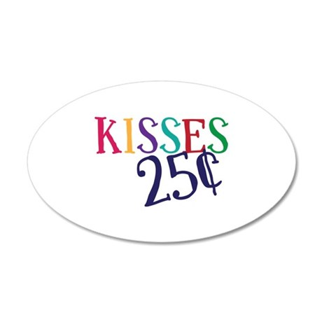 Kisses 25 Cents Wall Decal