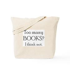 too many books Tote Bag