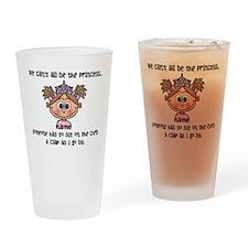 Princess (light brown) - Customize! Drinking Glass
