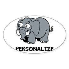 Elephant cartoon | Personalized Decal