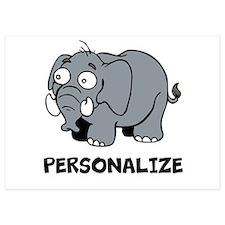 Elephant cartoon   Personalized Invitations