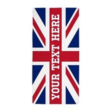 Personalize Union Jack Flag Beach Towel