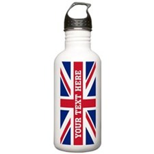 Personalize Union Jack Flag Water Bottle