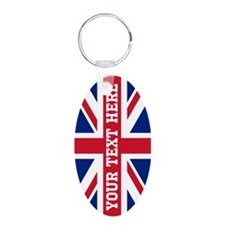 Personalize Union Jack Flag Keychains