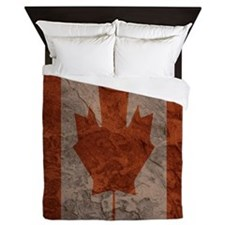 Canadian Flag Catacombs graphic Queen Duvet