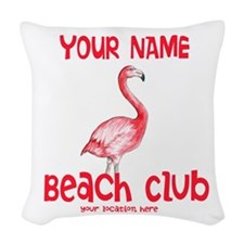 Custom Beach Club Woven Throw Pillow