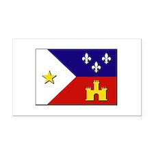 Flag of Acadiana Rectangle Car Magnet