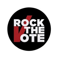 """Rock The Vote: 3.5"""" Button (100 Pack)"""