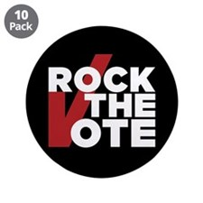 """Rock The Vote: 3.5"""" Button (10 Pack)"""