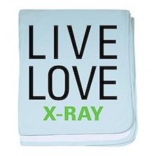 Live Love X-Ray baby blanket